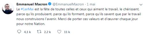 Le 1er mai de Macron