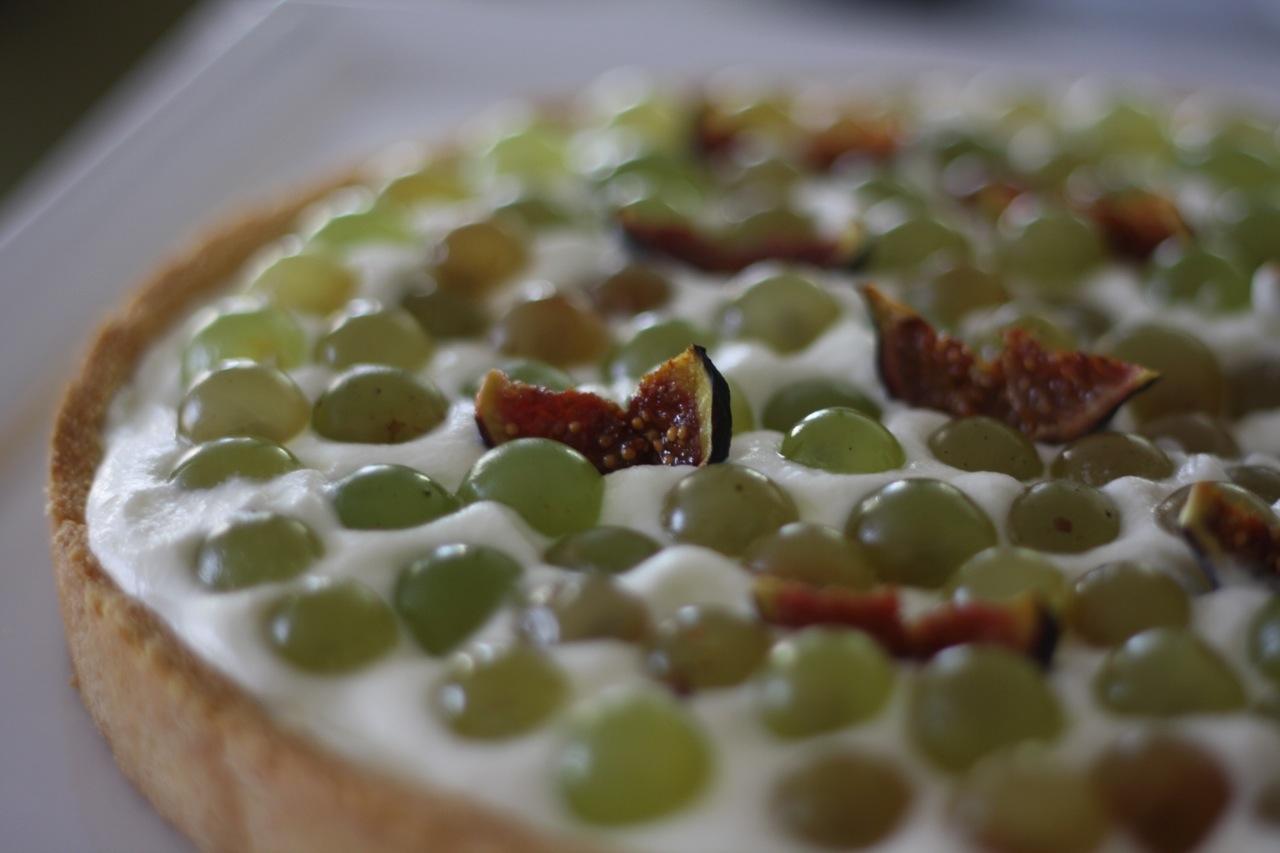 tarte raisin mascarpone - guilaine de seze