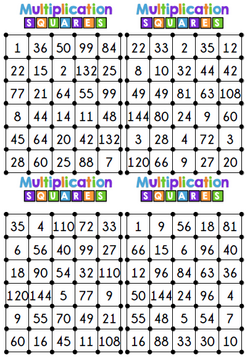 Cases de multiplication - 2ème série de documents