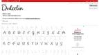 Page avec les caractères