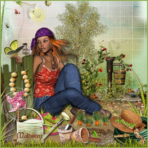 je jardine tu jardines ils ou elles jardinent chez Ella
