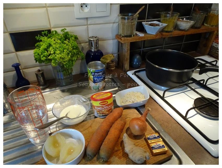 Potage carottes et poires