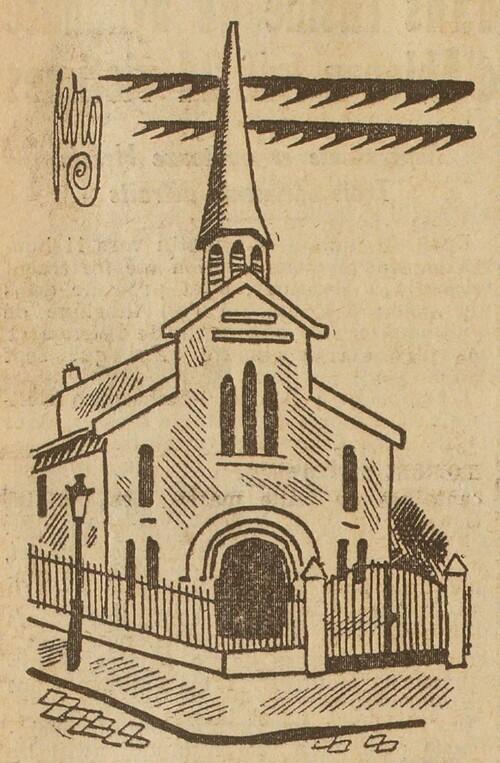 Une cérémonie à l'Église antoiniste - Temple (L'Œuvre, 1er sept 1928)