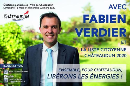 Affiche - Ensemble, pour Châteaudun, libérons les énergies !