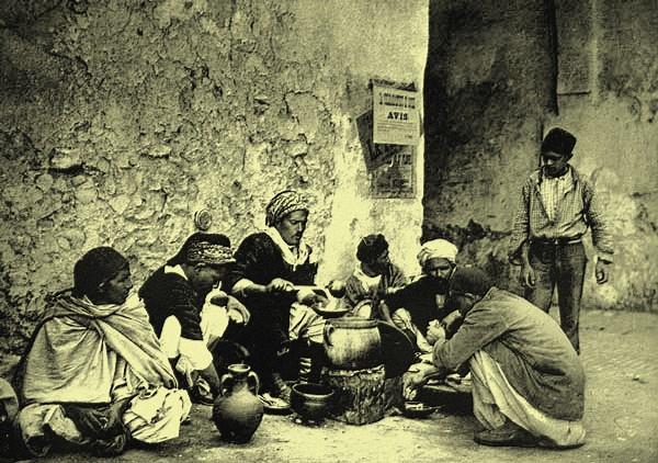 Cuisinier ambulant, Kairouan, Tunisie,. 1890