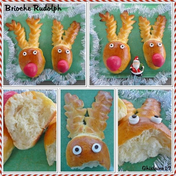 Brioche Rudolph - le petit renne au nez rouge