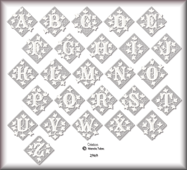 Tube Alphabets 2969