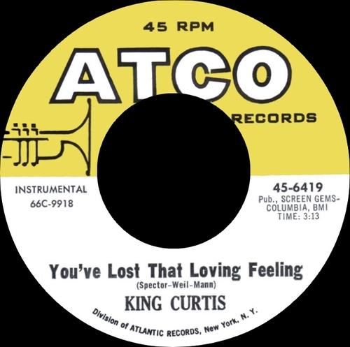 "King Curtis : Album "" That Lovin' Feelin' "" Atco Records SD 33-189 [ US ]"