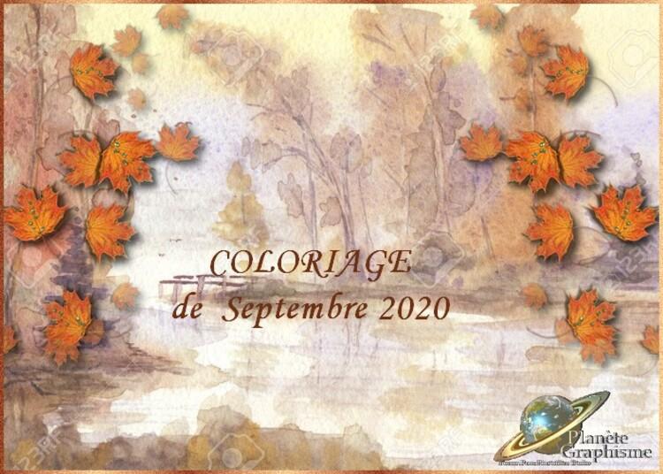 Coloriage du mois de Septembre 2020