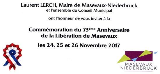 * Masevaux se souvient - 73 ème anniversaire de sa libération