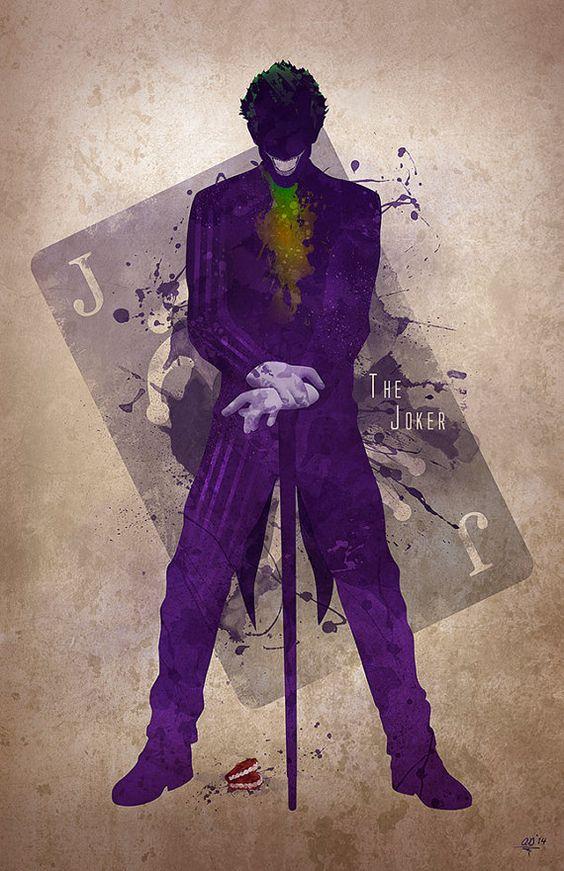 Original Art giclée Print Le Joker par DigitalTheory sur Etsy