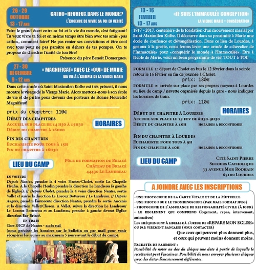 Chapitres des Jeunes 2016-2017