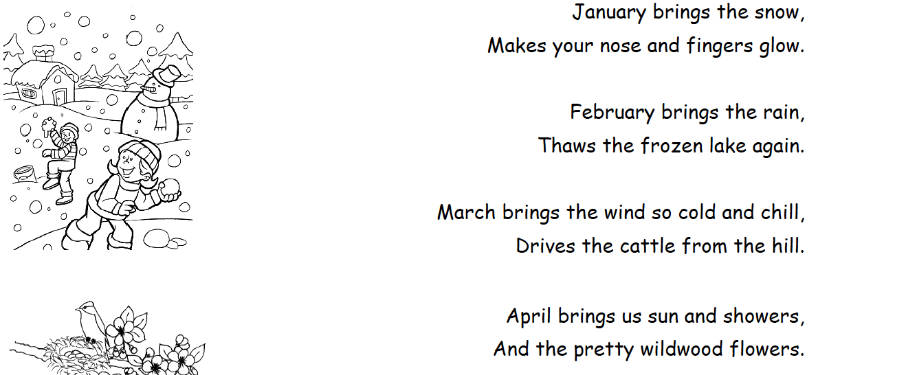 Les mois en anglais cartable ouvert for Dans 6 mois en anglais