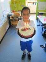 Amine, à peine arrivé dans notre école, fête ses 10 ans !