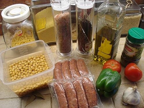 Râgout de Saucisses et Pois chiches