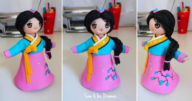 Na Yung, petite princesse coréenne en pâte FIMO