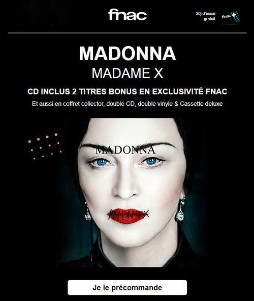 Madame X en édition spéciale FNAC : pré-commandez!