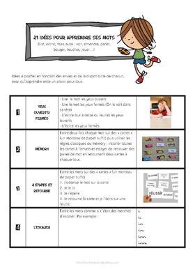 21 idées pour apprendre ses mots