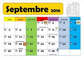 calendriers pour la classe