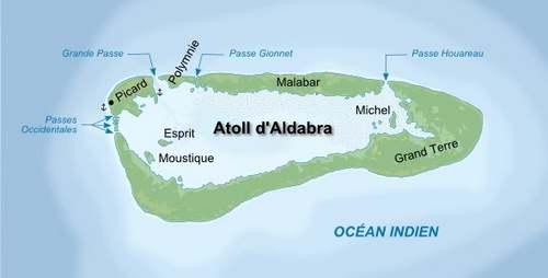 Patrimoine mondial de l'Unesco : L'atoll d'Aldabra - Seychelles -