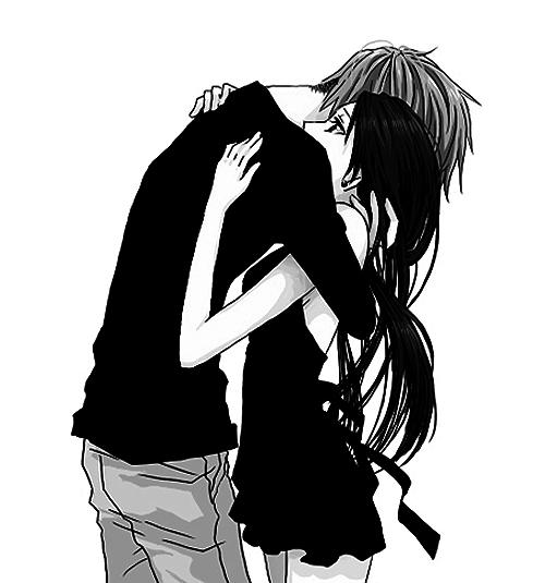 Image de anime, hug, and couple