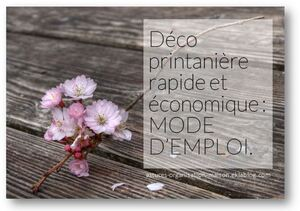 ✿ Déco printanière rapide et économique : mode d'emploi.