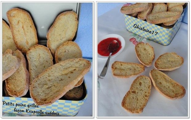 Petits pains grillés façon Krispolls suédois