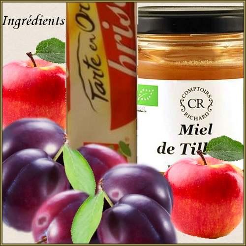 Recette de cuisine : Tarte aux prunes et aux pommes