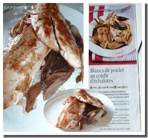 Blancs de poulet au confits d'échalotes