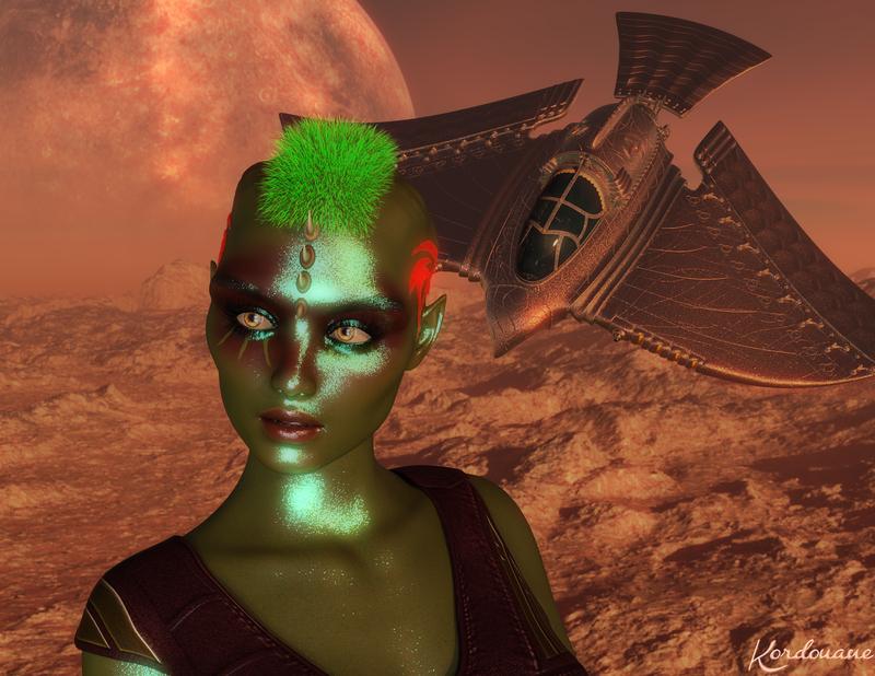 Fond d'écran : Alien science-fiction (DazStudio)