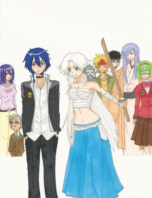 La couverture de mon manga ( pas encore finie)