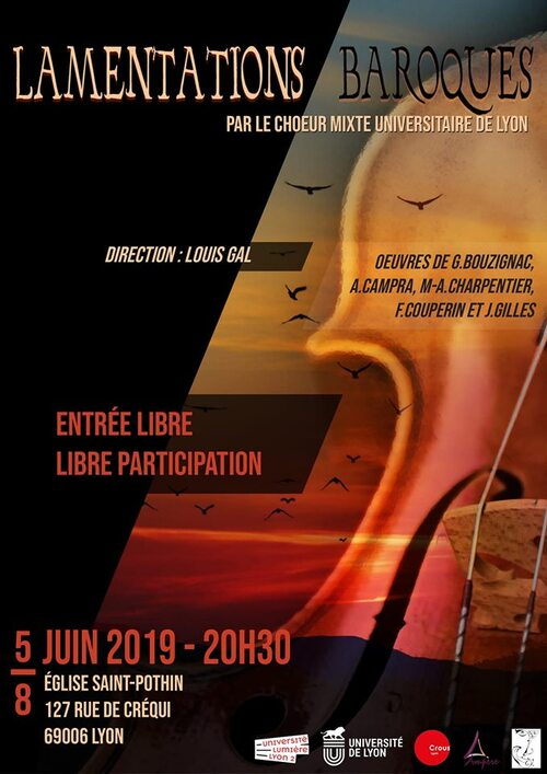 Concert de fin d'année : Lamentations Baroques