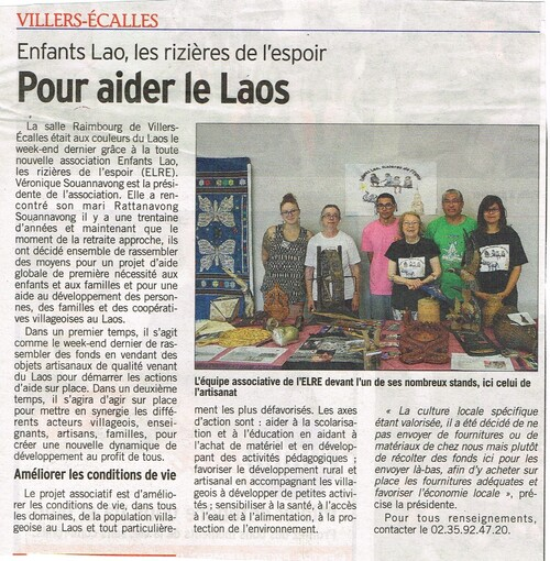 Article du Courrier Cauchois