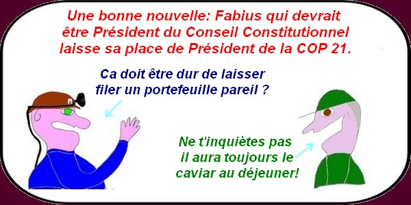 Fabius quitte la COP 21