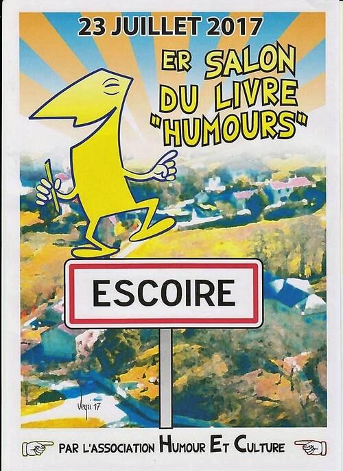 1er salon du livre de l'Humour du périgord, l'Escoire fait vivre !
