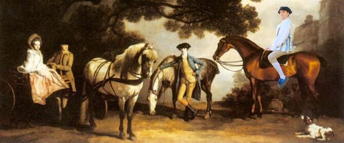 Promenade à chevaux