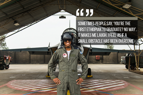 ISRAEL - first Ethiopian to graduate from the IAF Flight Course.