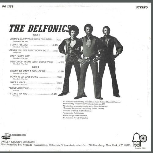 "The Delfonics : Album "" The Delfonics "" Philly Groove Records  PG 1153 [ US ]"