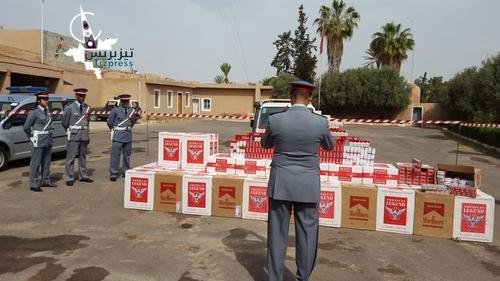 Tiznit: Interception d'une grande quantité de cigarettes de contrebande