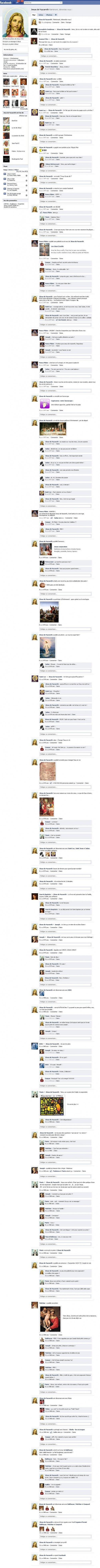 La page Facebook de Jésus