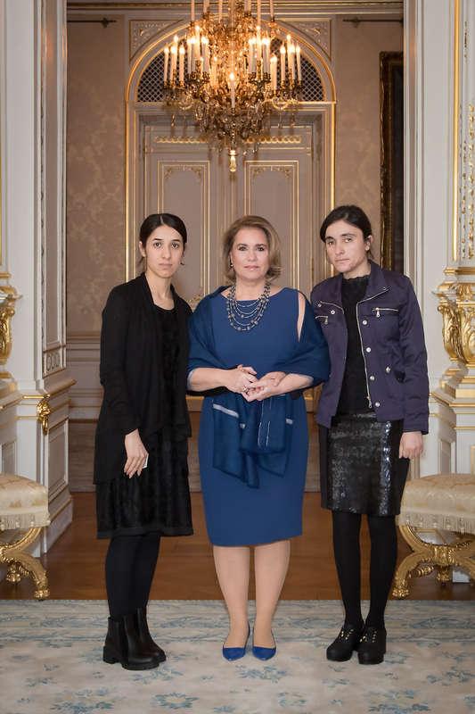 Audience des lauréates du Prix Sakharov 2016