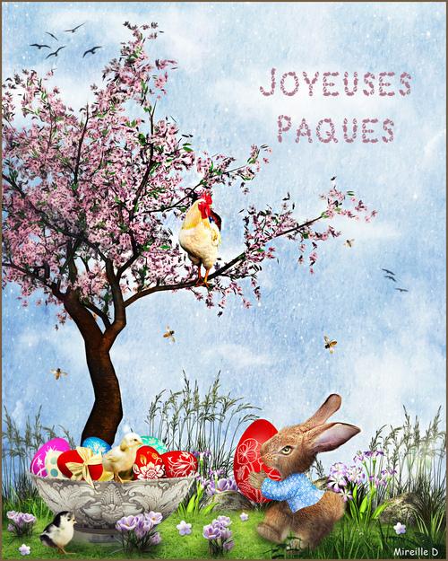 Oeufs de Pâques (Carte Photomontage)