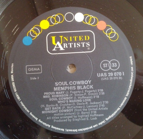 "1969 : Album "" Soul Cowboy "" United Artists Records UAS 29070 l [ GE ]"