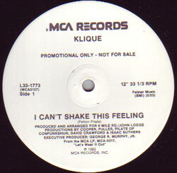 Klique - I Can't Shake This Feeling