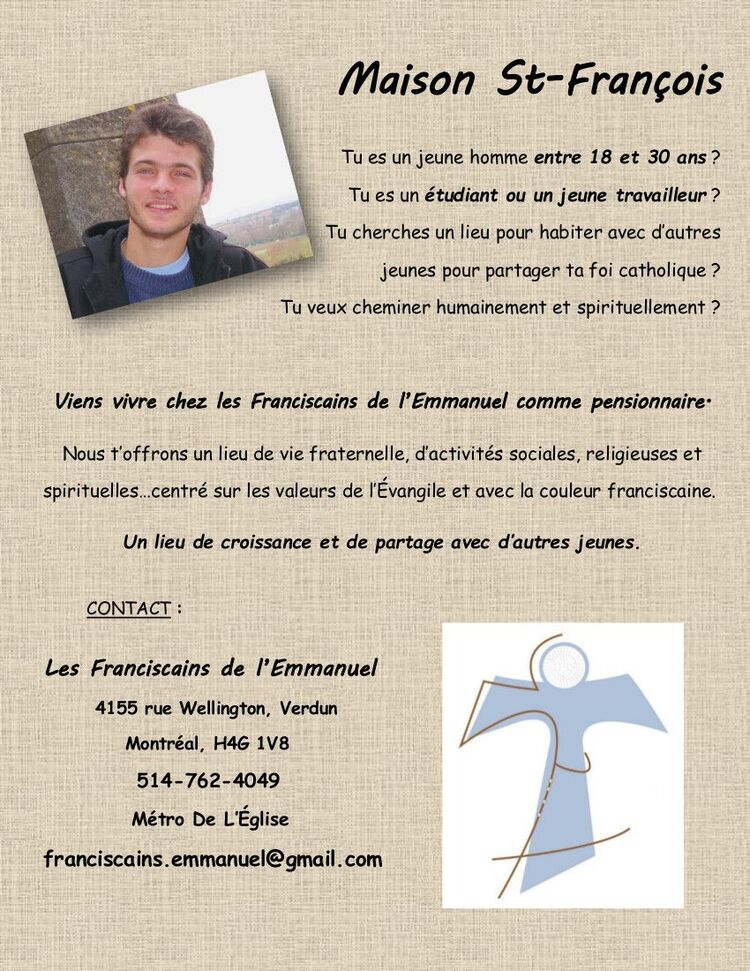 INVITATION - Voeux perpétuels  de Frère Alain Ladouceur