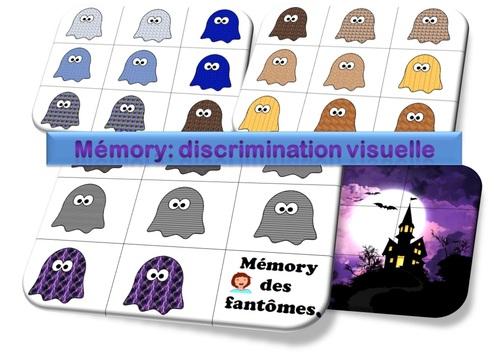 MATERNELLE-ATELIERS AUTONOMES-HALLOWEEN-mémory des fantômes