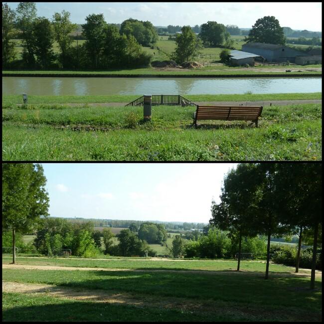 Parc en bordure du Canal Latéral. Loiret