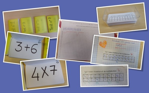 le rituel du vendredi : test de tables (addition et multiplication)