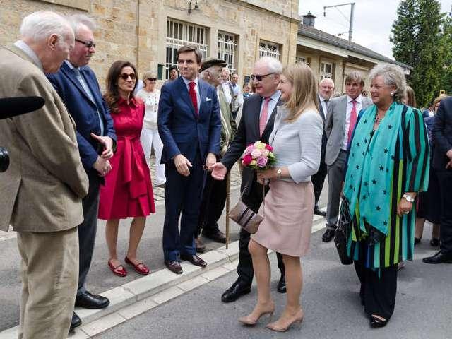 Inauguration du Jardin des Roses dans la commune de Walferdange.