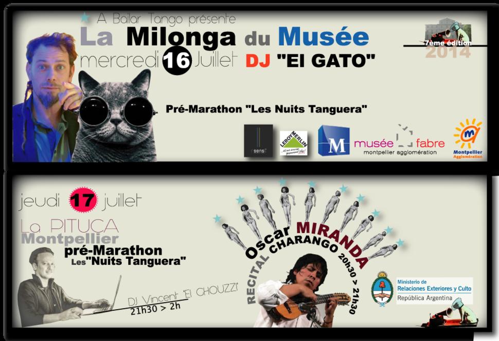 """★ Pré-MARATHON """"Les Nuits Tanguera"""" ... le programme complet ★ Du 14 au 17 juillet à Montpellier"""